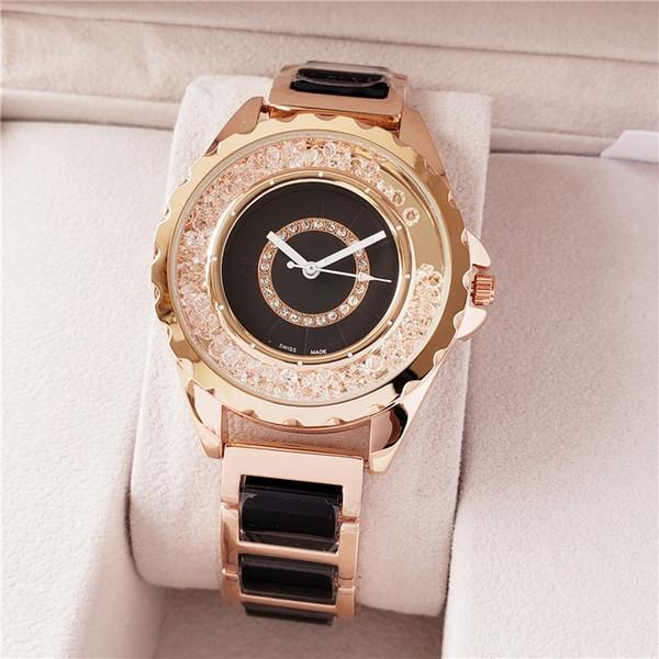 40mm Hombres / Mujeres Negro / Blanco Reloj de pulsera Aleación Bisel Correa Relojes de pulsera Negro / Blanco Dial Relojes de pulsera de cuarzo