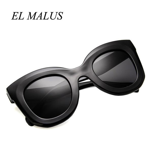 [EL MALUS] Retro Güneş Kadınlar Kare Çerçeve Kırmızı Leopar Shades Marka Tasarımcısı Kadın Seksi Bayanlar Güneş Gözlükleri Gafas De Sol