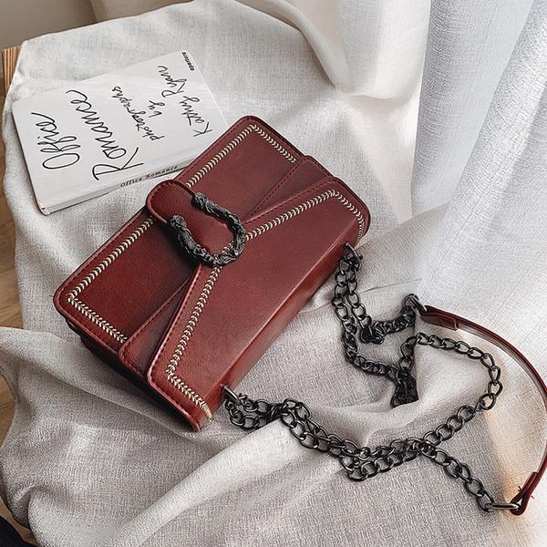 Kostenloser Versand Männer und Frauen der besten Ferien Geschenk-Beutel-Leder-Handtaschen Leder-Umhängetasche Umhängetasche aus Herbst und Winter High Sense West