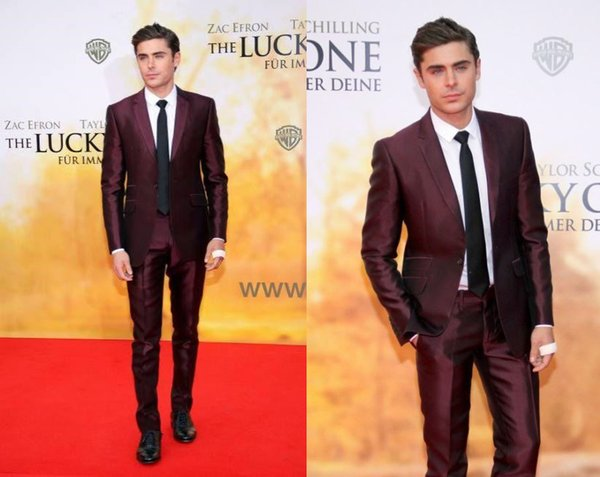 Handsome Burgundy Mens Suits Slim Fit Two Pieces Groomsmen Wedding Tuxedos For Men Blazers Notched Lapel Formal Prom Suit (Jacket+Pants)