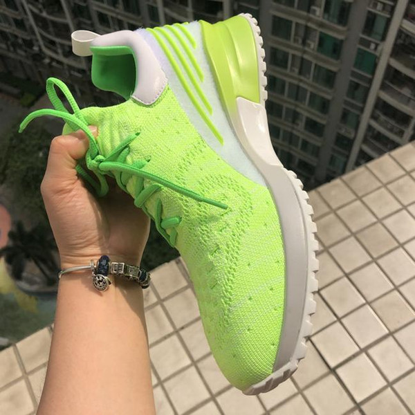 BIG Size 12/46 popular Designer sneakers Sock shoes Women men casual shoes fashion with box Sneakers Fluorescent Green Orange Man's Shoes
