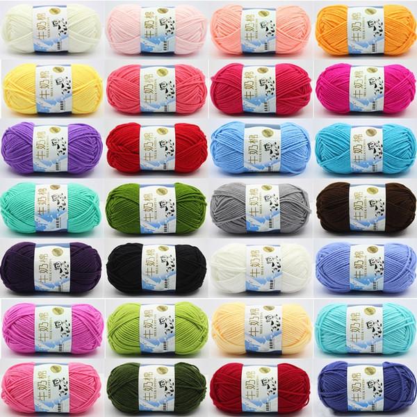 Crochet Yarn Milk Cotton Yarn Baby Knit Wool Yarn for Knitting Children Handmade Knitted Blanket Toy