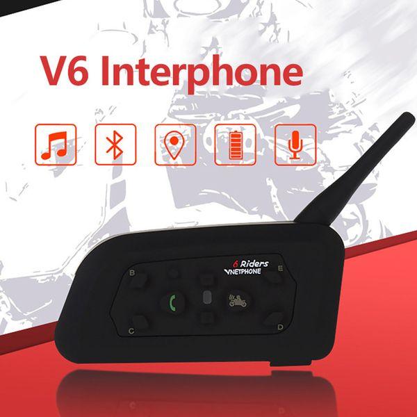 Multi-Interphone 1200M Motorrad Bluetooth Helm Intercom Wireless Intercomunicador Moto Interfones Headset für 6 Fahrer MP3