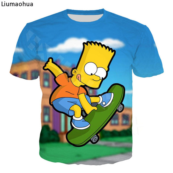 New Casual Funny T Shirt The Simpsons 3D Printed Hip Hop Short Sleeve Men Women Harajuku Hoodies Cartoon t-shirts Tops