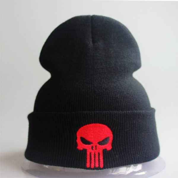Designer Skull Embroidery Beanies Hats Man Woman Hip Hop Acrylic Knit Winter Caps Hats For Adults Mens Womens Black Slouchy Snow Head Warmer