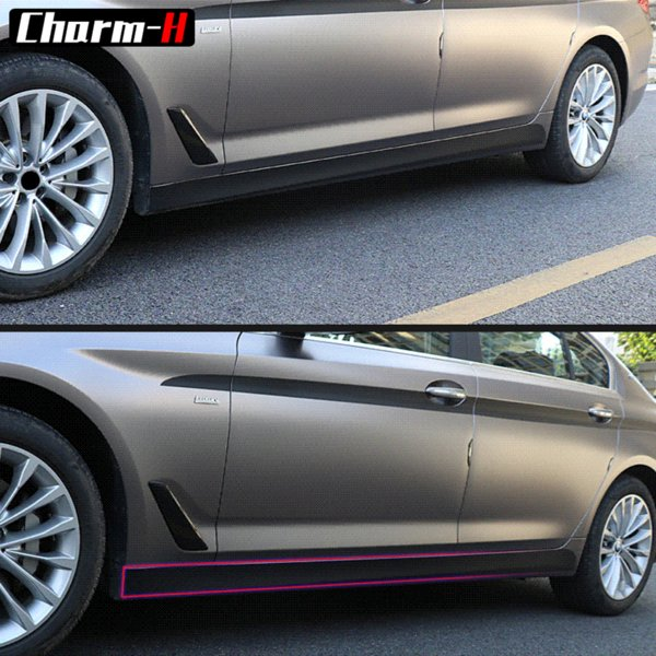 2pc Side Skirt Sill Decal Racing Stripe Vinyl Decals Sticker for for BMW G30 5 Series 2017-2018