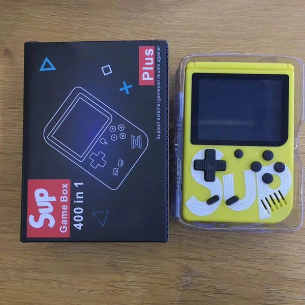 Yellow SUP games Console Mini Handheld Game Box Portable Classic video game player 3.0 Inch Color Display 400 games AV-out
