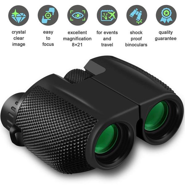 10X25 Jumelles HD All-optique double vert Film Telescope Jumelles étanche pour Chasse Sport Voyage Trekking observer les oiseaux