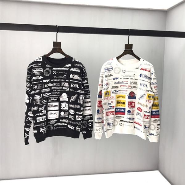 Новая осень Mens конструктора Толстовки моды Luxury фуфайки Brand Logo Печатный пуловер женский свитер толстовки B100393K