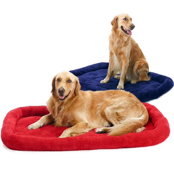 Dog Cushion Pet Mats Large Dog Bed Fleece Thick Warm Cat Beds Kennel Puppy Dog Cage Mat Car Seat Blanket Matress For Medium Large Dogs Bed