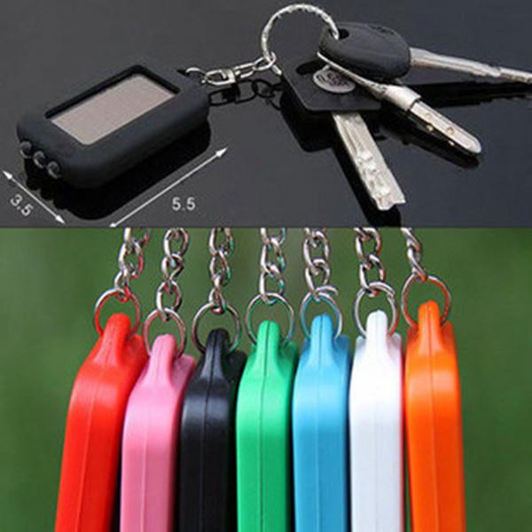 Anahtarlık Fenerleri Taşınabilir Açık Güneş Enerjisi 3 LED Işık Anahtarlık Torch Fener Lambaları Mini Yürüyüş Kamp Fenerleri 4 Renkler ZZA967