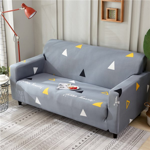 Amazing The New Fashion Elastic Sofa Covers Grey Geometric Pattern Slipcover Washable Universal Sectional Slipcover Pillowcase Cartoon Rental Tablecloths Slip Beutiful Home Inspiration Xortanetmahrainfo