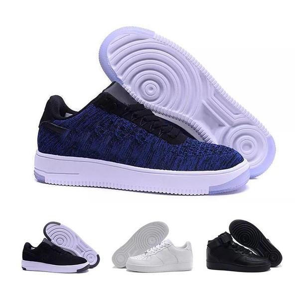 nike air force 1 Flyknit Utility Klassischer Stil für Herren und Damen Flyline-Laufsport-Skateboardschuhe 1 Paar hoch geschnittene schwarze und weiße Outdoor-Schuhe