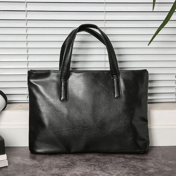 Bolsa dos homens estilo horizontal maleta computador bolsa novo estilo saco de negócios capa de documento