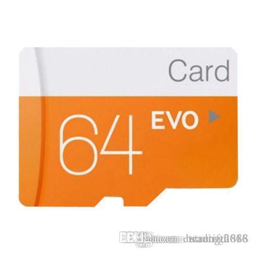 Design Discout 64 Go 32 Go Noir VS Blanc EVO PLUS EVO + Carte mémoire micro SD TF 90MB / s 80MB / s Haute vitesse Classe 10 WHOLESALES