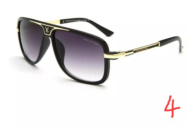 2018 Hot selling big high quality fashion metal connected glasses men and women sunglasses 5 color complete
