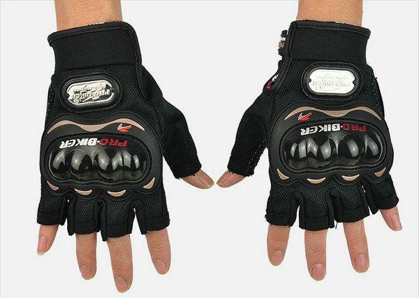 motorcycle half finger protection gloves POR-BIKER motorbiker cycling glove moto sports racing MTB ATV DIRT BIKE non-slip gloves
