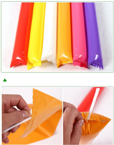 Factory Wholesale Custom LOGO Inflatable Sticks Lala Stick Cheering Sticks Fan Strikes Fuel Rod Strikes