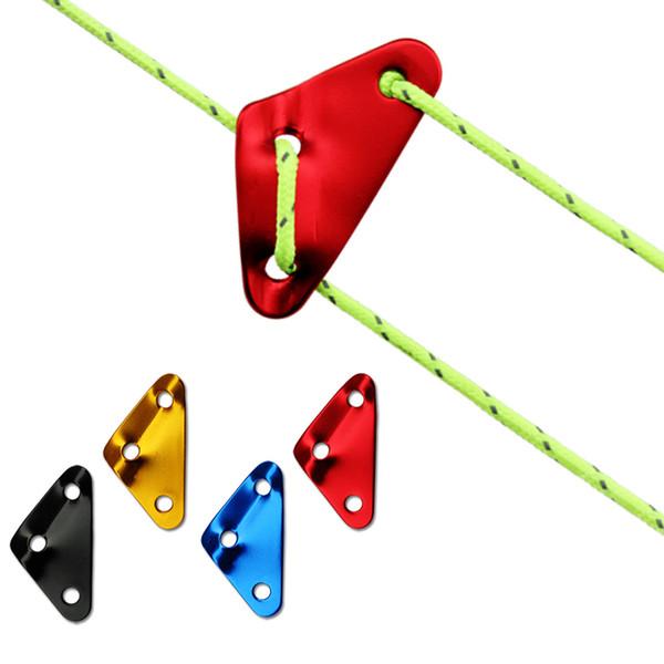 Lega di alluminio Triangolo Paracord tenditori Umbrella corda Regolatore Buckle Ultralight corda della tenda del vento Fibbia per l'escursione del campeggio picnic M416F