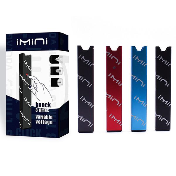 100% Original Imini Pod Starter Kit Vaporizador Kit 220mAh Batería Voltaje variable 0.5ml Tanque Vacío Pod Vape Kit DHL