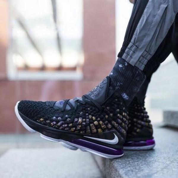 top popular 2019 new lbj 17 shoes LeBron XVII 17 Shoes Mens LBJ Women Athletic 16s Wolf Grey lebron 17 Basketball shoes 2019