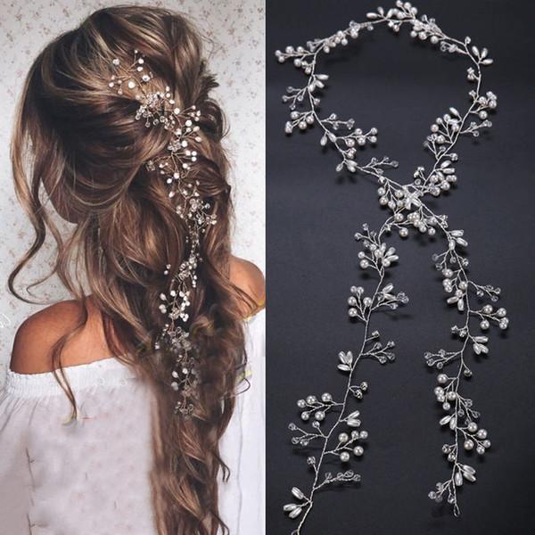 Kristall Perle Haargürtel Hochzeit Braut Haarschmuck Schmuck Dekorationen für Bräute Hochzeit Zubehör Romantische Frauen