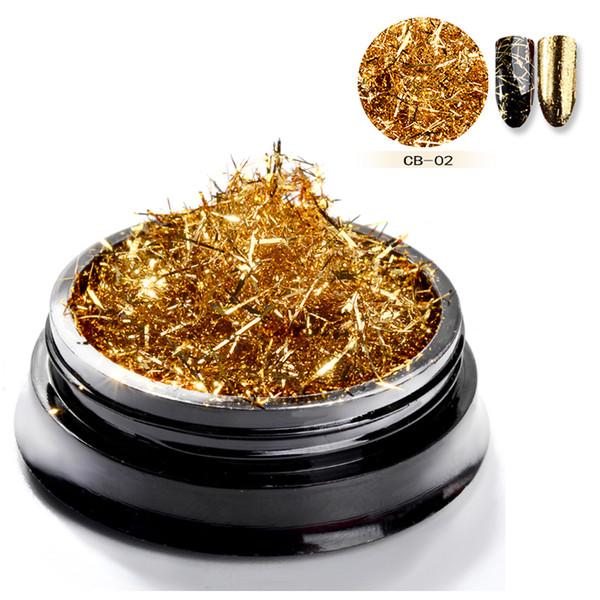 Nail Art Glitter Ouro Listras De Seda De Prata Linhas Lantejoulas Efeito Mágico Espelho Em Pó Espelho de Metal Em Pó Folha De Alumínio Flocos Decoração C19011401