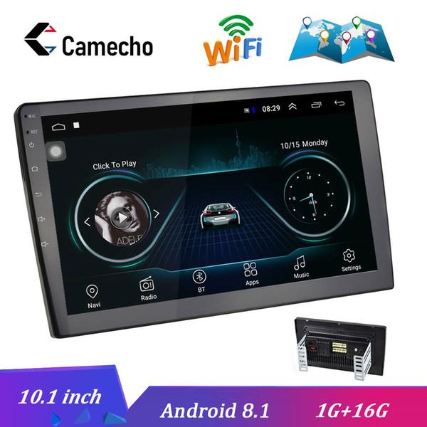 Camecho 10.1 pulgadas Android 8.1 estéreo radio de coche GPS Autoradio MP5 Multimedia Reproductor de vídeo DVD Bluetooth WIFI Espejo Enlace de audio
