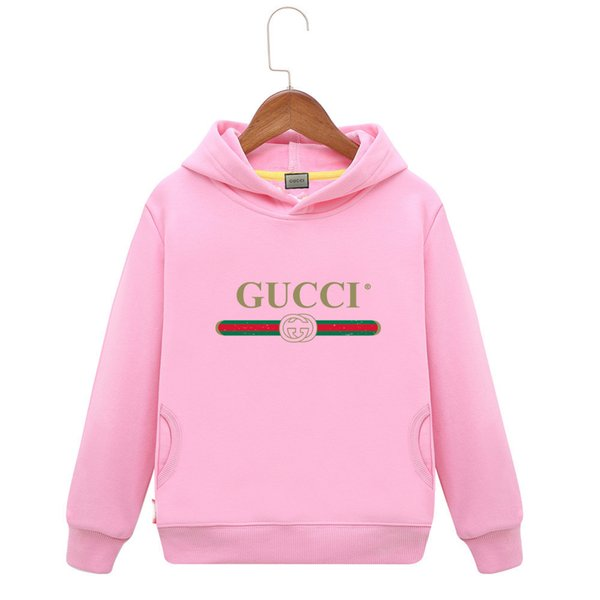 Cute Hoodies Autumn Male Girl Long Sleeve In Child Pure Cotton-padded Clothes Round Neck Thick Sweater Multicolor