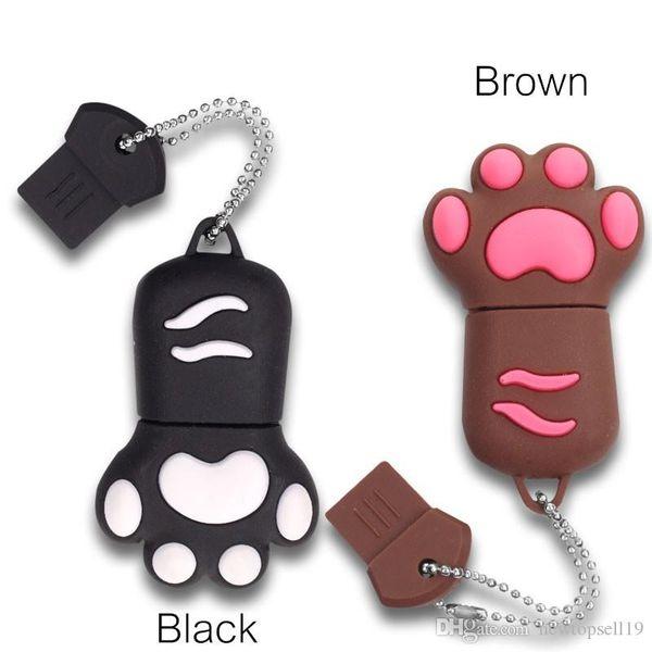 High quality High Quality USB Flash Drive Cute Lovely Cat Claws PenDrive Women Flash Memory Stick Pen Drives U Disk 4gb 8gb 16gb 32gb 64gb