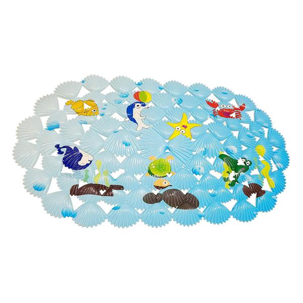 Alfombra de baño multiusos / PVC para alfombras de baño alfombrillas antideslizantes para niños y ducha de peces de coral