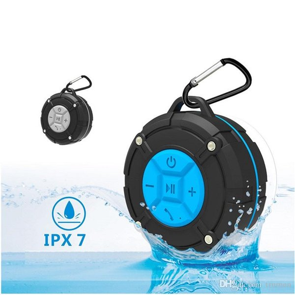 CS618 Waterproof Outdoor Bluetooth Speaker Portable Wireless Subwoofer Loudspeaker Shower Bicycle Speakers with Suction Cup for Iphone 8 dhl