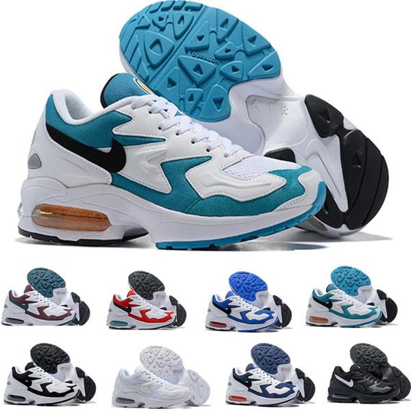 Großhandel Nike Air Max 2 Light 2019 Herren Maxes 2 Light OG Schuhe Weiß Blau Designer Sneakers Trainer Zapatos Sprts Max2 Schuhe Größe 40 45 Von