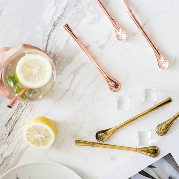 Нержавеющая сталь соломинкой Сок чай Сетчатый фильтр Handmade Yerba Mate Tea Тыква Washable трубочки чай инструмент