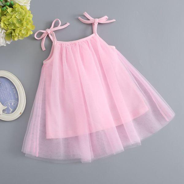 2019 neue Sommer-Baby-Ineinander greifen-Kleider Sleeveless Bügel-A-line-Kleid scherzt Kleinkind-Festzug-Kleidung