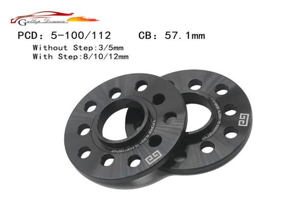 Galopar Domínio 2PC 5x100 / 5x112 3/5 / 8mm espaçador da roda 57.1mm liga de alumínio forja roda espaçador terno para SEAT IBIZA LEON Car-Styling