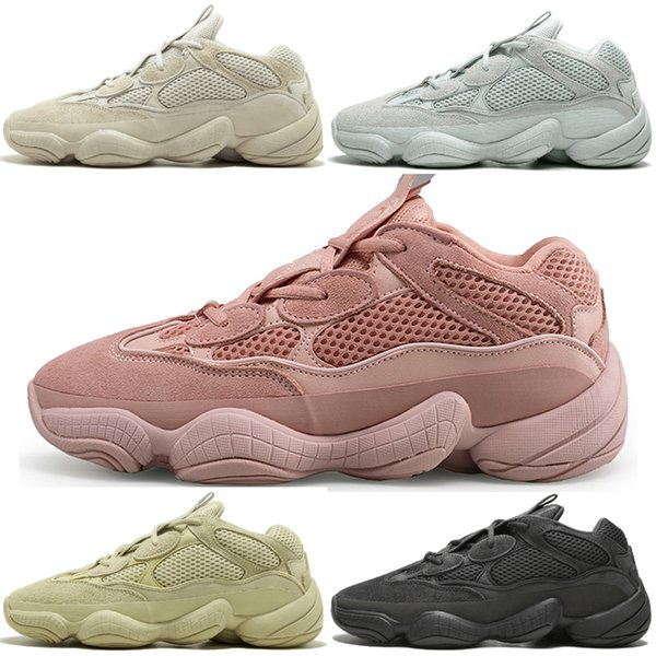 Acquista 2019 Nuovo Kanye West 500 Desert Rat Blush 500s Salt Super Moon Giallo Utility Scarpe Da Corsa Mens Uomo Donna Sneakers Sportive Scarpe Da