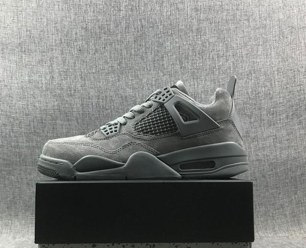 New Arrival 4 Cool Grey Black Man Designer Basketball Shoes Best Quality Vintage IV Wolf Grey Fashion Sport Sneakers Come With Box Size40-46