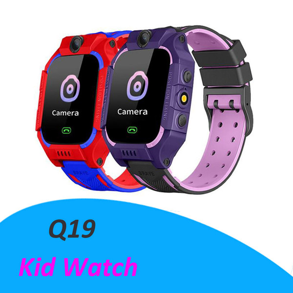 Slot Q19 intelligente guardare la vita Wateproof Bambini astuti Guarda LBS Tracker Smartwatches SIM con la macchina fotografica di SOS per Android iPhone smartphone in scatola