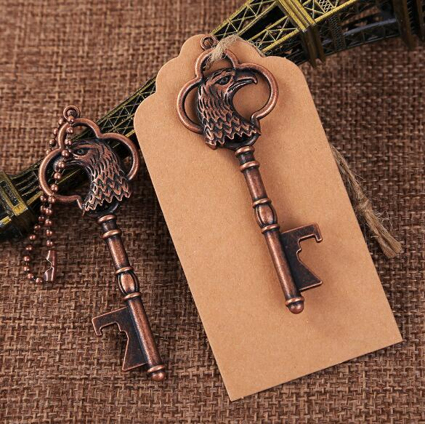 100pcs/Lot Eagle key chain beer bottle opener vintage key chain bottle opener gift back
