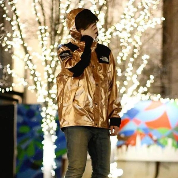18ss Metalik Dağ Parka Kutusu Logosu Ceket Erkek Kadın Kapüşonlu Ceket Rahat Gevşek Streetwear Giyim Rüzgarlık Dış Giyim Ceket HFYMJK005