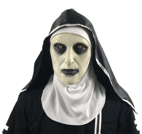 The Nun Horror Party Masks Theme Costume Mask Halloween Cosplay Hood Helmet Valak Family Group Halloween Costumes Movie Themed Costumes For Groups