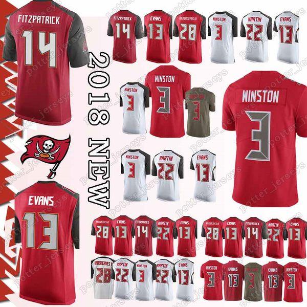 198ea3f7040 Cheap sales Tampa Buccaneer 14 Ryan Fitzpatrick Jerseys 3 Jameis Winston 22  Doug Martin 13 Mike