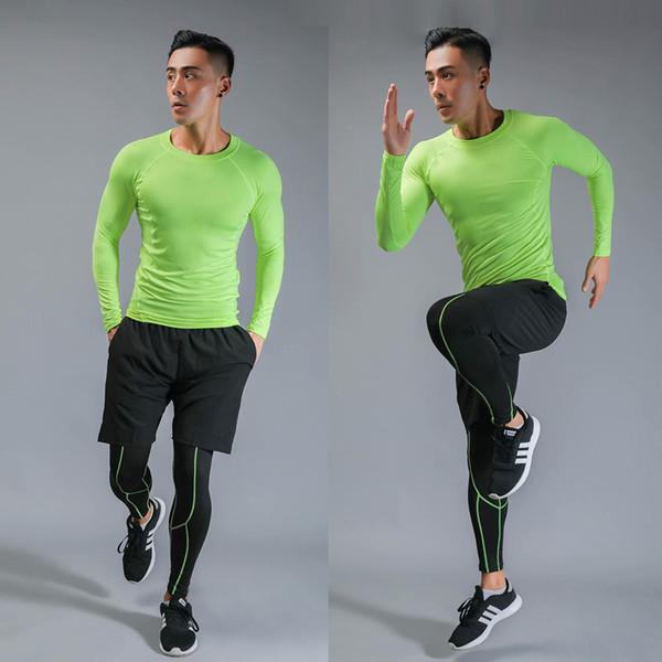Esecuzione 2019 Uomo Imposta 3pcs Quick Dry / imposta compressione Tuta sportiva di pallacanestro Collant Abbigliamento Gym Fitness Jogging Sport