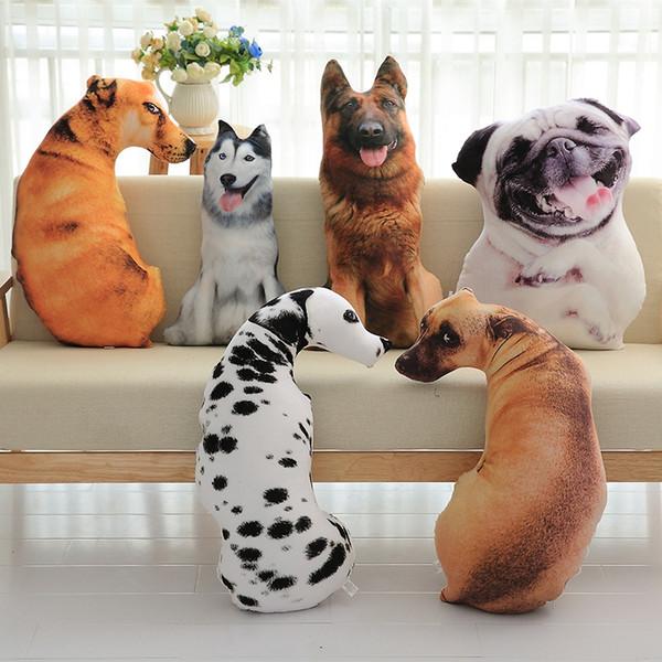 New Creative 3D Vivid Stampato Full Body Forma Cane Animale Tiger Wolf Dog Carino Mordern Ufficio Abbraccio Regalo Cuscino Divano Gettare il cuscino