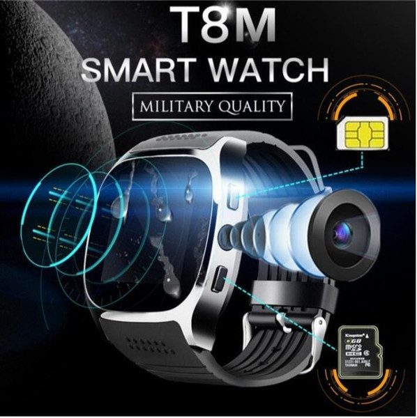 T8 Bluetooth Smart Watch with Camera Facebook Whatsapp Support SIM TF Card Call Sport Smartwatch for IOS Android Smart Wearable Technology