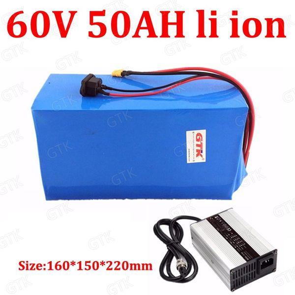 Lithium-Ionen-Bateria mit hoher Kapazität von 60V / 50AH für 6000W Elektrostapler AGV-Trolley-Roller, der LKW-Traktor + Ladegerät 5A fährt
