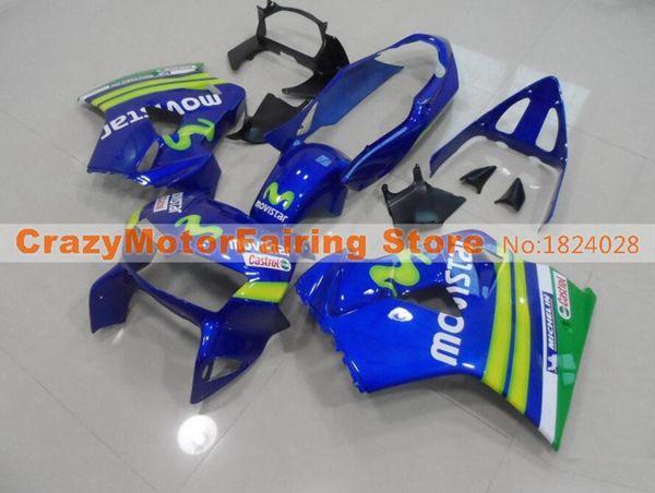 New ABS mold Fairing Fit For Honda 1998 1999 2000 2001 VFR800 98 99 00 01 VFR 800 Blackbird Motorcycle Fairings set custom blue green