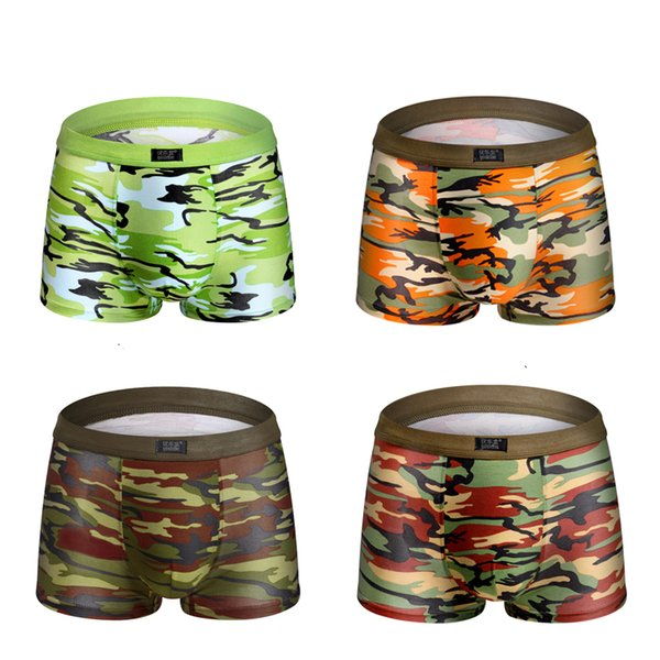 Brave man captain Camouflage printed Boxer Shorts male panties Breathable Underwear For Men Cheap Boxer Shorts 4pcs