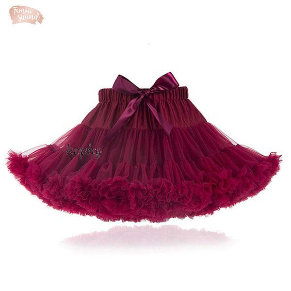 Jupe Tulleskirt Taille Fluffy bébé adolescente Adualt femmes Pettiskirt Tutu Dance Party Adult Performance Tissu pleine